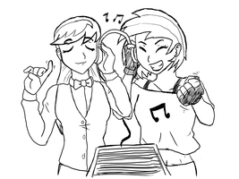 Vinyl and Octavia - Jamming Out by JinglesRasco