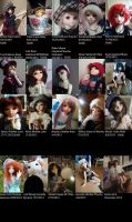 My Doll Family from 2011-2013 by Blackeyes1001