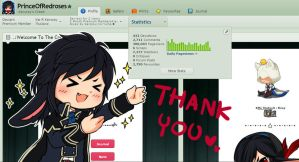Thank you so much for 300,000 PVs by PrinceOfRedroses