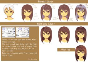 Hair Cell Shading Tutorial by FirstiArt