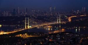 Istanbul view from Camlica Hill by gordini19
