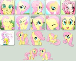 Fluttershy - Avatar Pack by kero444