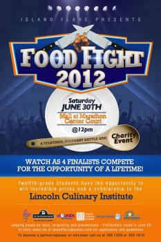 Food Fight Flyer by CandieC