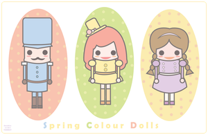 Spring Colour Dolls by teammist
