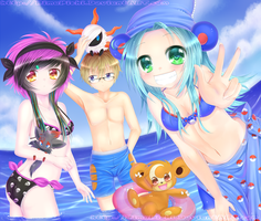 Fun At The Beach by RimaPichi