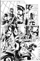 Wolverin Colossus pg2 inks by madman1
