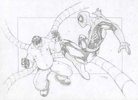 Spiderman VS Dr. Octopus by DenisM79