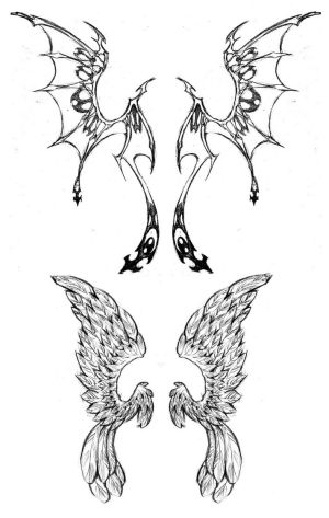 Angel wings Tattoos, Angel Wings Tattoo Designs - Part 8