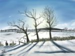 Winter landscape (iPad finger painting) by chaseroflight