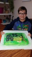 Me and My TMNT Raph and Slash cake by NinjaTurtleFangirl