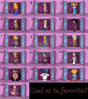 .:Cual es tu favorita? 6:. by nicko5649