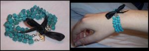 turquoise bracelet by something-i-am-not