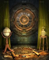 Steampunk Traveler's Maps #2 by Trisste-stocks