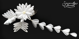 White Frost Kanzashi by SincerelyLove