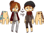 Hipster twins by basiIisks