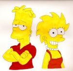 Teen Bart and Lisa by Locke831