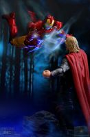 Iron Man Vs. Thor by neueziel