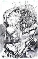 Storm Shadow vs. SnakeEyes for coloring by jey2dworld