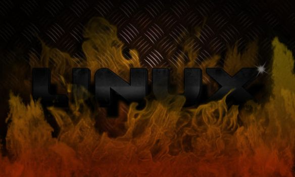 Linux Fire Wallpaper by spinix