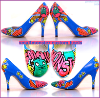 handpainted shoes II by gleeful-beast