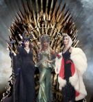 The Queens and their throne by BlackBatFan