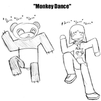World Famous Monkey Dance by kitten-boy