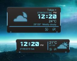 Robot Time Weather-Mini for xwidget by jimking