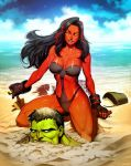 Red She-Hulk Plus - Hit The Beach by GENZOMAN