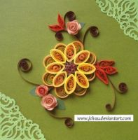 Quilling Flowers 9 by jchau