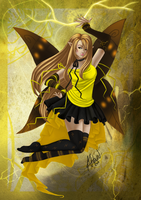 Yellow fairy of lighting by KimiCookie