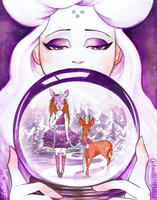 Snow Globe Masquerade-Collab with Leilani Joy by PurpleMango1