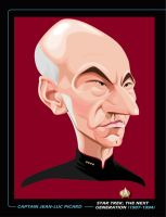 CAPTAIN PICARD PRINT by kgreene