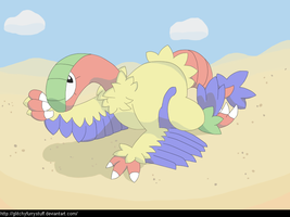 Archeops doesn't very much care for company by GlitchyFurrystuff