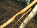 Birch flatbow handle detail by taika-kim