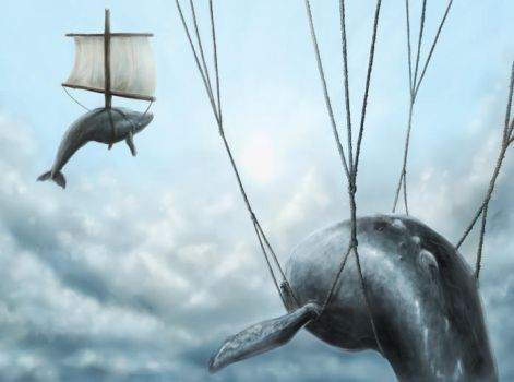 Whales at flight by wulfnstein