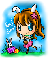 The Easter Bunny by Eeveelutions95