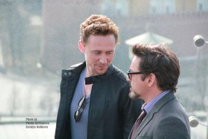 Tom Hiddleston and Robert Downey Jr by GodWitch