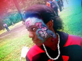 FacePainting7 Flowers1 by jbChimchar
