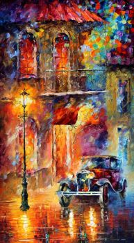 Old Car by Leonid Afremov by Leonidafremov