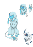 Ice Absol entry by Dazed--Flame