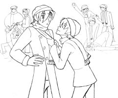 Ouran Winter lineart by MrsMcGinty