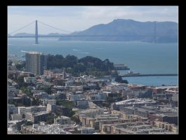 Golden Gate and SF by tonyeck