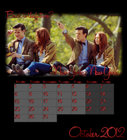 Dr Who Calender - October 2012 by feel-inspired