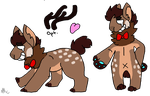 Choco Deer Mutt Adopt CLOSED by Cataclasum