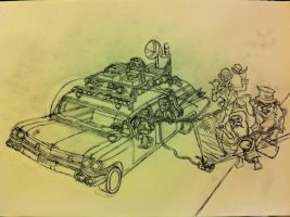 THE REAL GHOSTBUSTERS VS The Hitch Hiking Ghosts by GBAxel