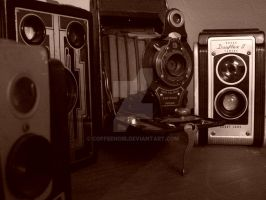 Old Cameras by coffeenoir