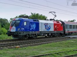 EC train with Frankreich lok by morpheus880223