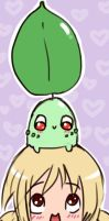 me and chikorita by RikkuTakedo
