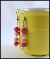 Pink earrings for my daughter :) by SuniMam