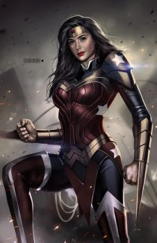 Armored WW (Gal Gadot's face) by alex-malveda